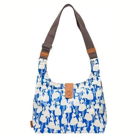 Orla Kiely Flower Girl Midi Sling Bag, Cobalt