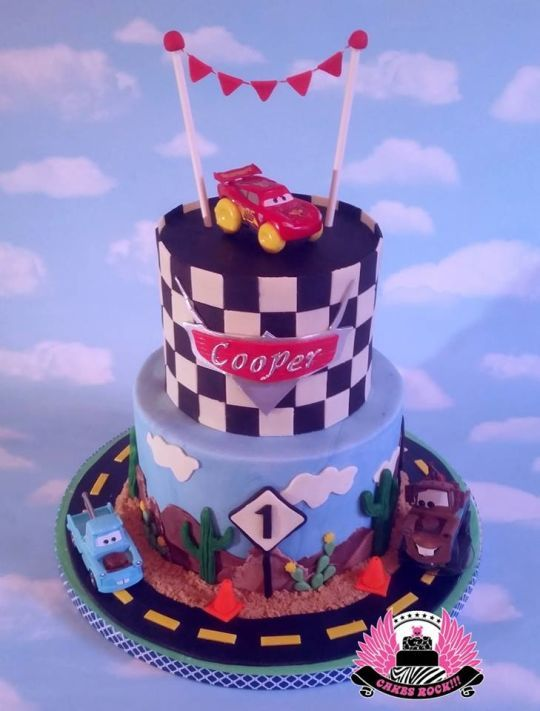 Disney Cars Themed First Birthday Cake Greysons First birthday