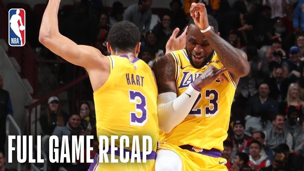Lakers Vs Bulls Lebron James Puts On A Dunk Show In Chicago March 12 Lakers Vs Lebron James Lakers