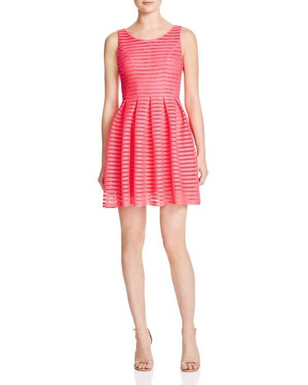 e5b05972f2c Aqua Stripe Mesh Neoprene Dress
