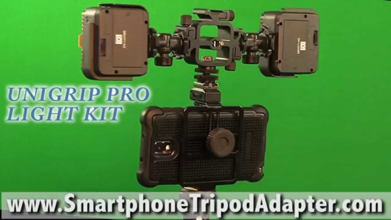 Diy How To Add A Light Kit To The Unigrip Pro Smartphone Tripod Mount Tripod Smartphone Protective Cases