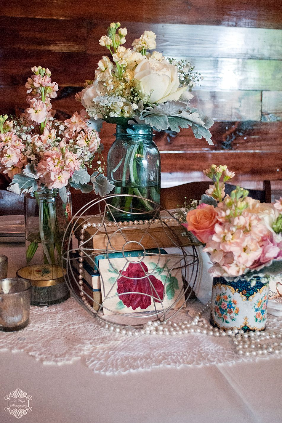 Vintage Wedding Tablescapes Table Top From Howell Family Farms