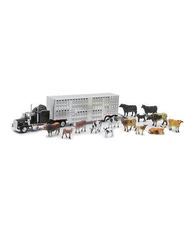 Another great find on #zulily! Livestock Trailer & Animals Set by New-Ray Toys #zulilyfinds-Another great Christmas gift idea!