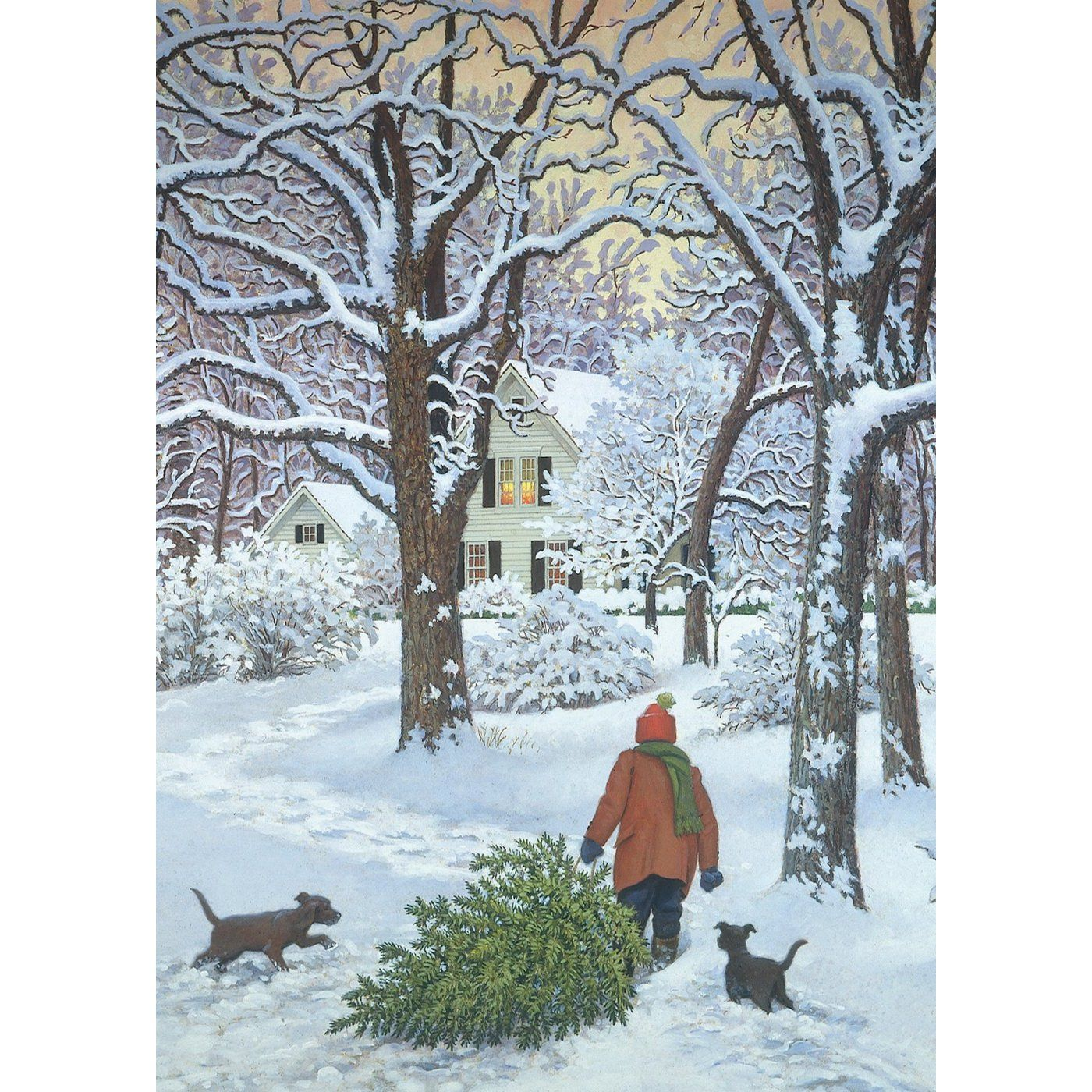 by Marian Heath | Winter painting, Print christmas card ...