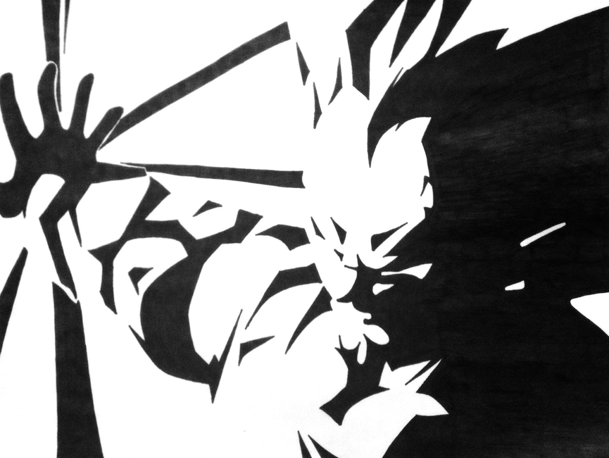 My drawing vegeta from dragon ball z dbz vegeta dragonball z cricut ideas