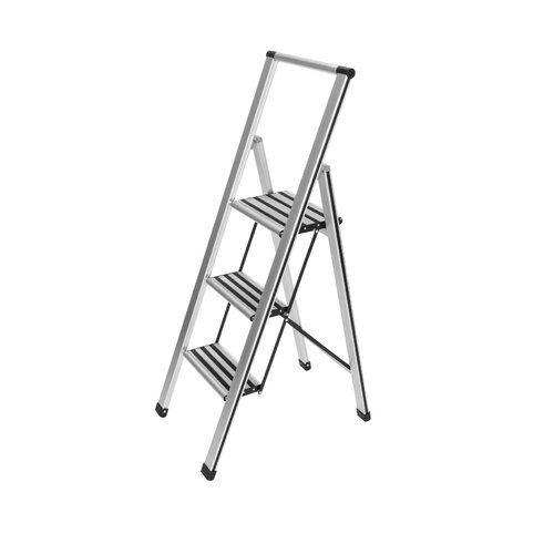 WENKO Alu-Design Stepladder 4 steps white