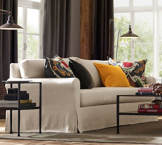 York Roll Arm Slipcovered Sofa