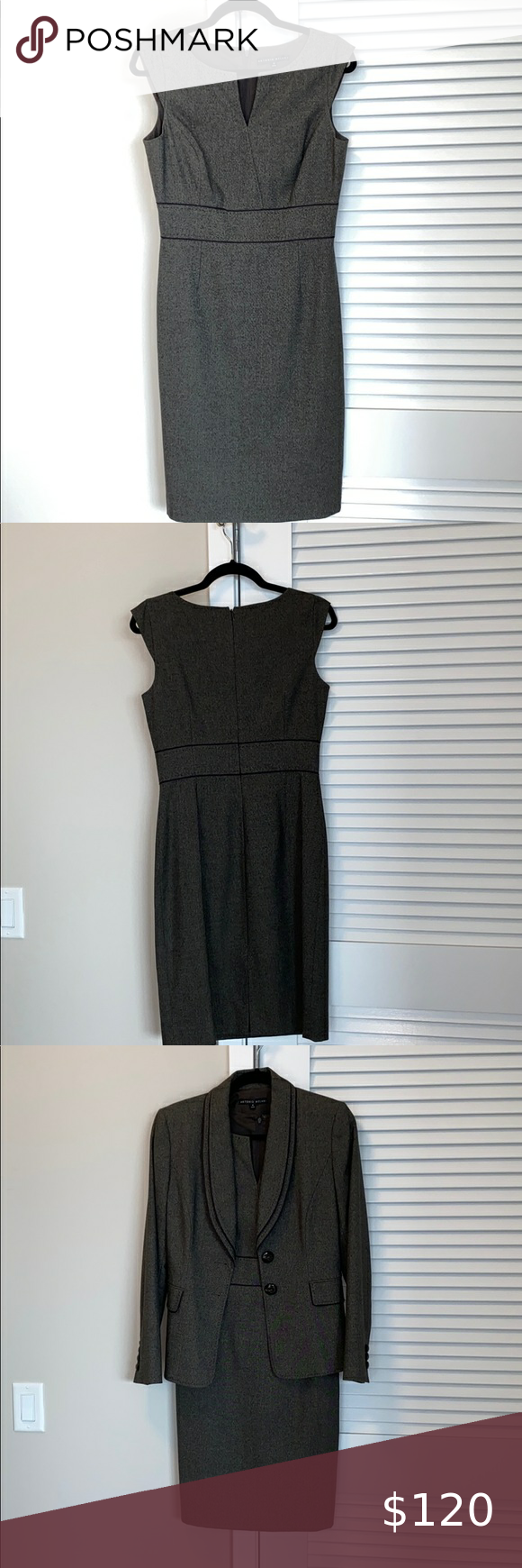 Antonio Melani matching dress and blazer Like new, worn once for a job interview...