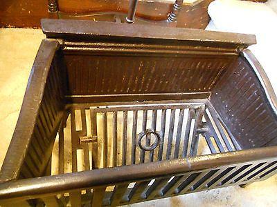 Antique Cast Iron Fireplace Grate Insert Coal Log Trap Doorce
