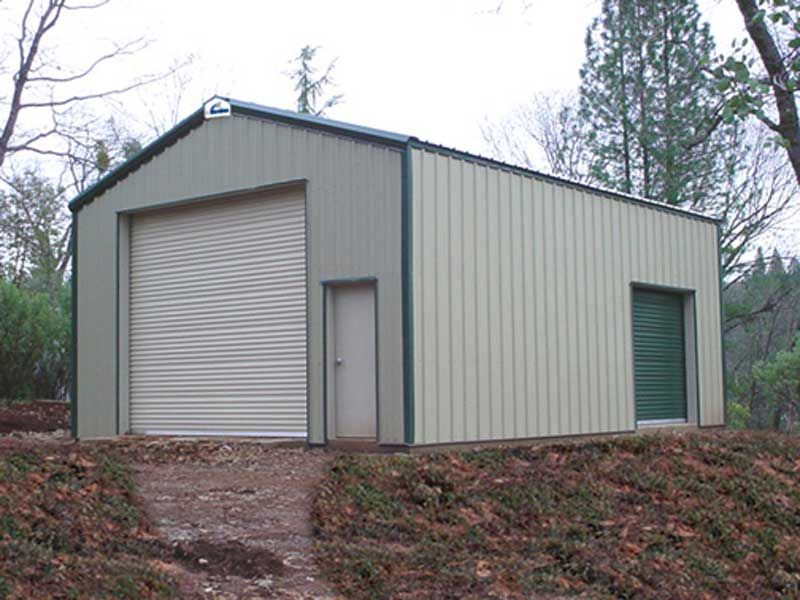 Metal garage buildings apartment residential workshop for Metal garage with apartment