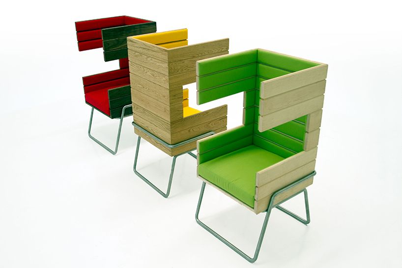jakob gomez's gibooth chair offers flexible solutions - designboom   architecture & design magazine