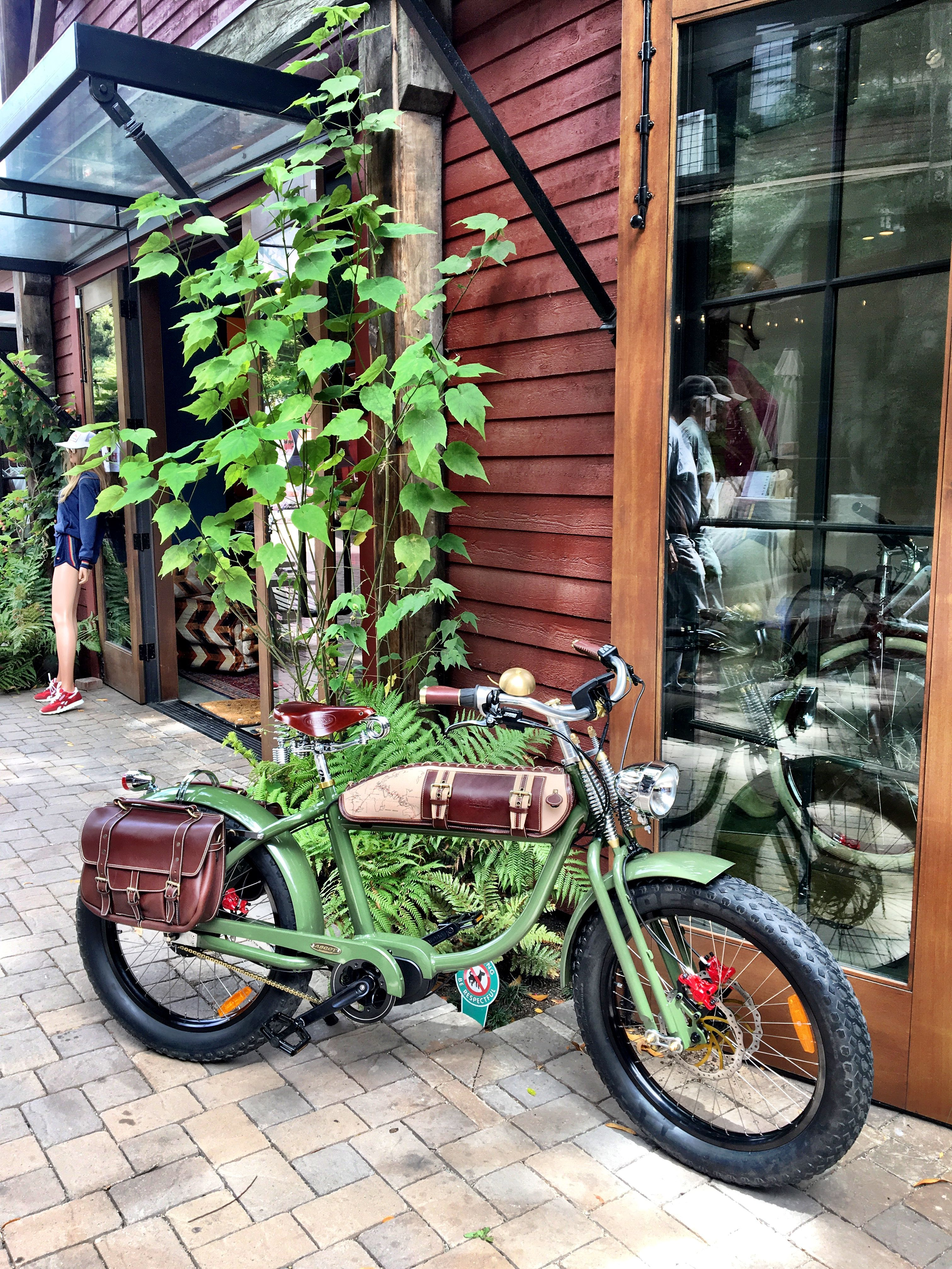 One of our beautiful vintage style electric bikes at our