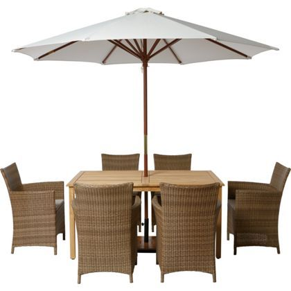 Garden Furniture 6 Seater samara rattan effect 6 seater garden furniture set - home delivery