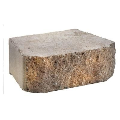 Anchor Windsor Stone 4 In X 11 75 In X 8 In Brown Buff Concrete Retaining Wall Block 16201624 The Home Depot Concrete Retaining Walls Retaining Wall Block Retaining Wall