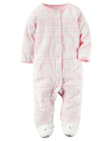 daf468f50d82 Baby Girl Fleece Snap-Up Sleep   Play from Carters.com. Shop ...