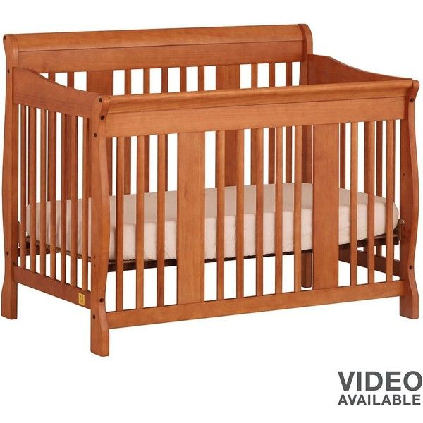 Stork Craft Tuscany 4-in-1 Convertible Crib ($237) ❤ liked on Polyvore
