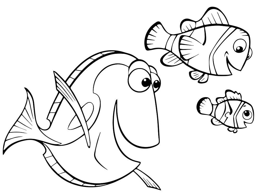 Finding Nemo Nemo coloring pages, Finding nemo coloring