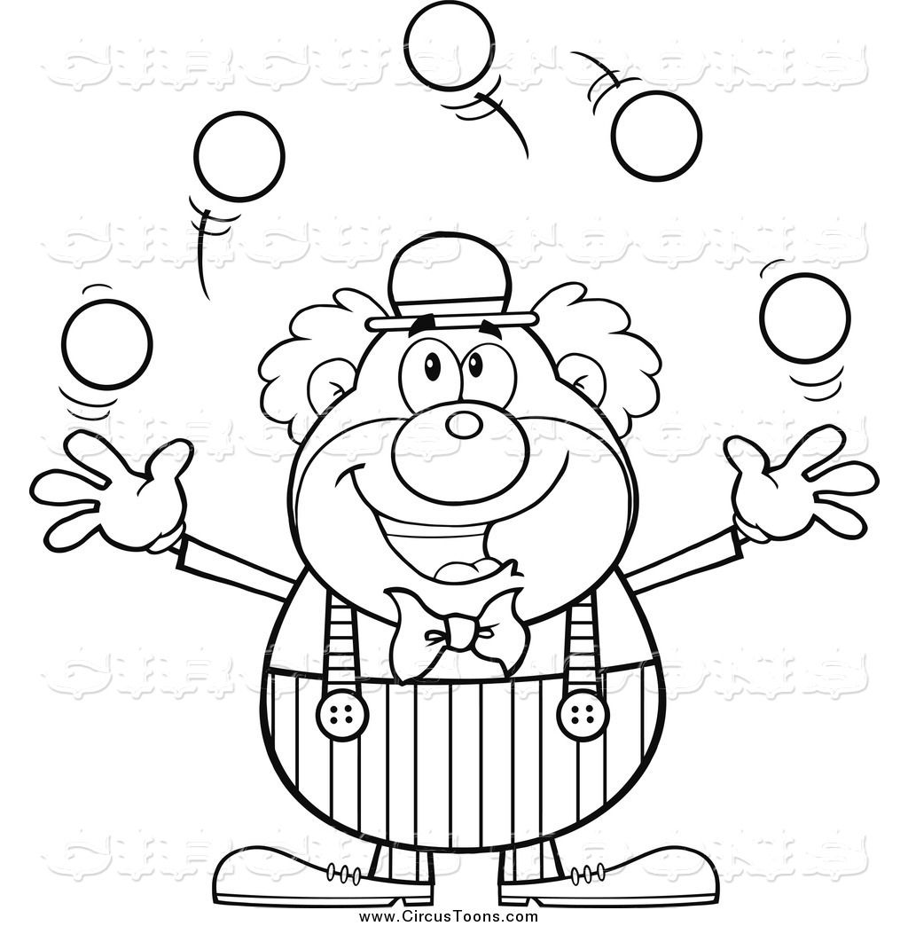 Free coloring pages of juggler Happy World Jugglers Day