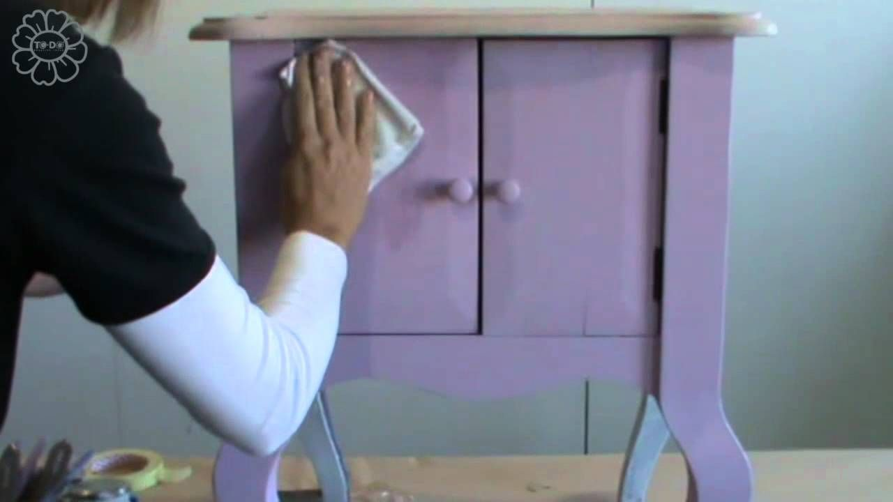Tutorial Pittura Shabby Chic : Tutorial to do decorazione mobiletto in stile shabby restauro