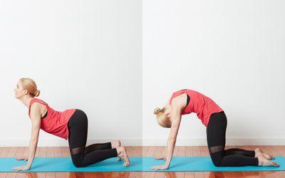catcow stretch for breastfeeding moms  yoga benefits