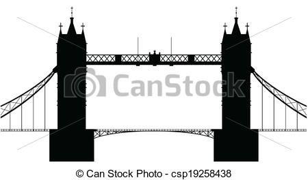 Vectors Of London Bridge A Silhouette Of London Tower Bridge