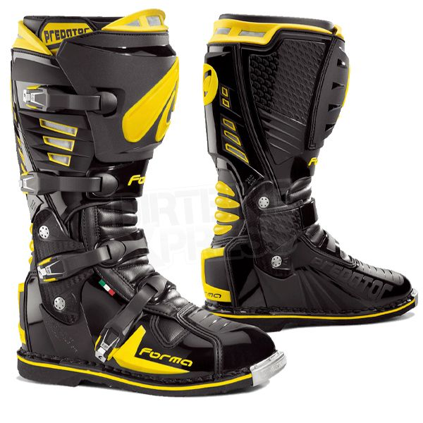 Forma Predator Motocross Boots - Black Yellow