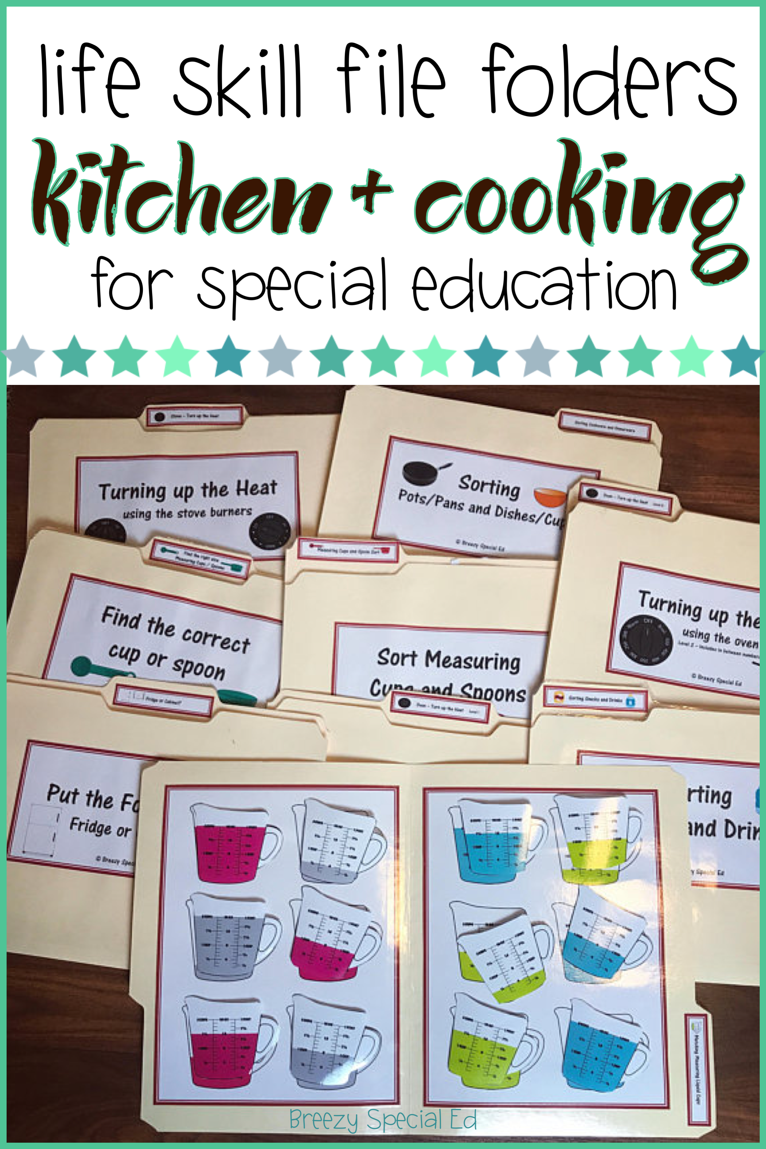Special Education Kitchen Cooking Life Skill File