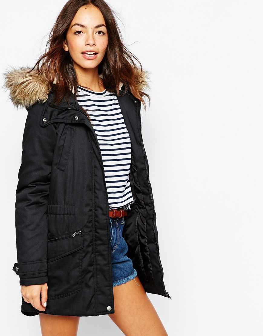 Only Faux Fur Parka Jacket | Faux fur parka, Parka and Fur