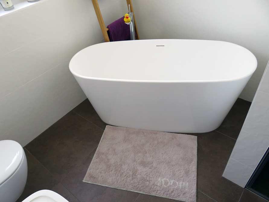 Freistehende Badewanne Bellagio aus Mineralguss - Weiß matt oder