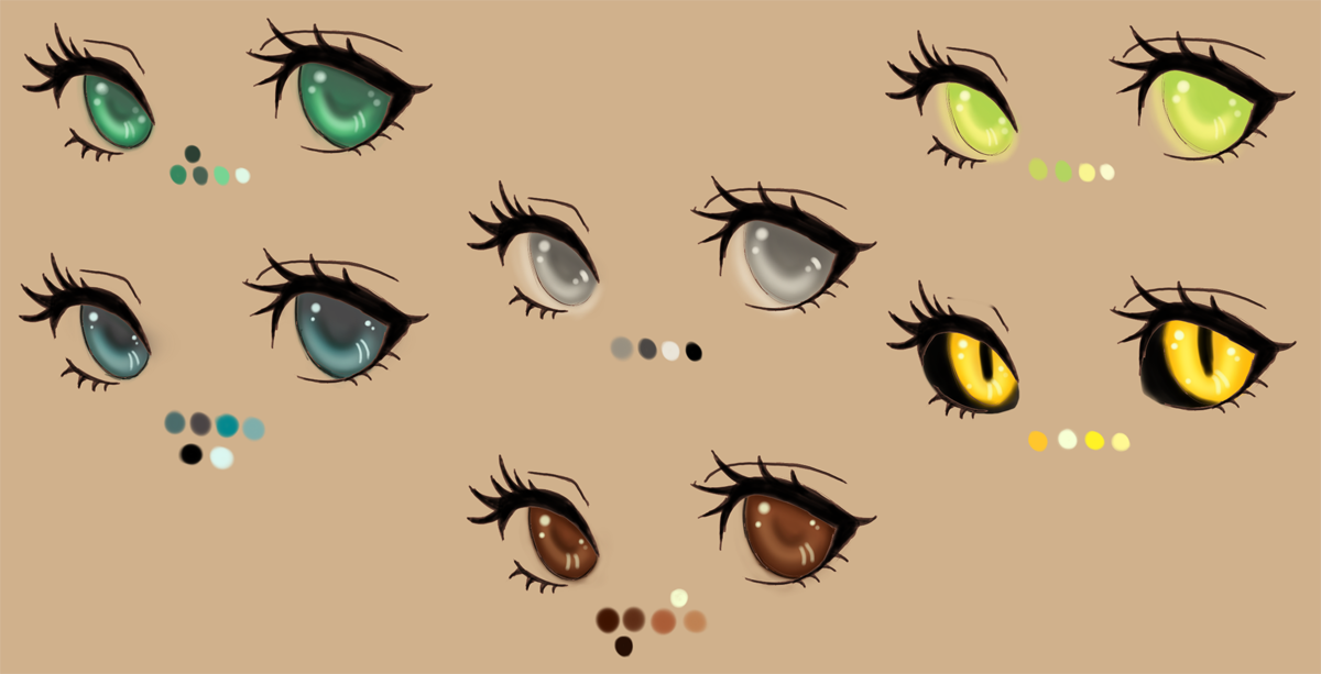 Eye Color Palette By Kohlmeisendeviantart On DeviantArt