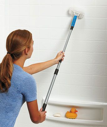 Telescopic Tub And Tile Scrubber Clean Amp Clear Tub