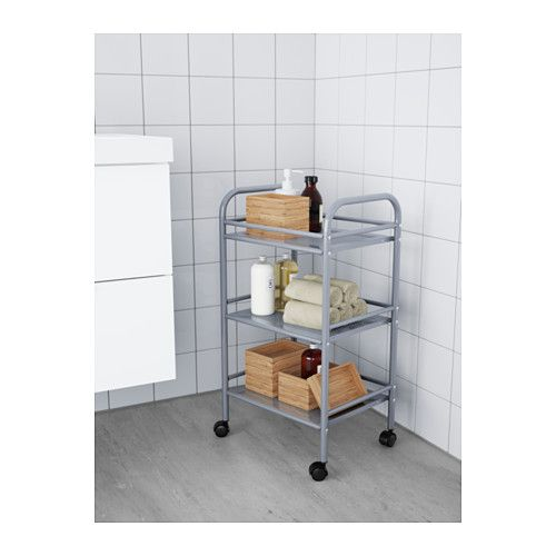 Kitchen Trolley Designs Colors: DRAGGAN Cart, Silver Color