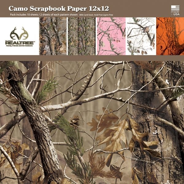 Realtree Camo Scrapbooking Paper Camoflouge Pinterest Camo