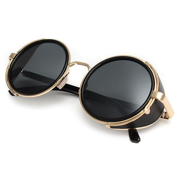 50s style steampunk vintages lunettes rondes lunettes de cyber lunettes de soleil
