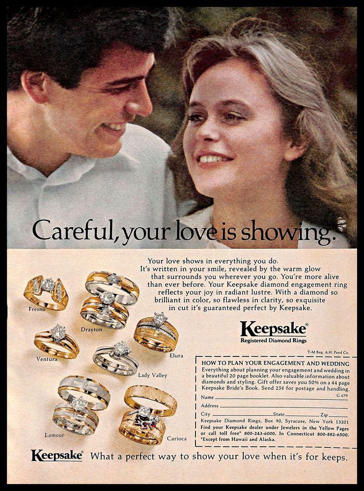 1979 keepsake engagement rings vintage print ad jewelry
