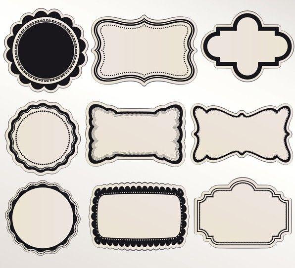 Free Set Of Vintage Vector Labels 04 Titanui Vintage Labels Label Design Design Template