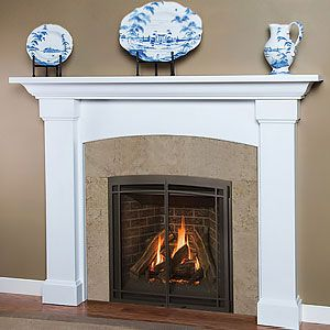 anniston 54in x 39in wood fireplace mantel surround