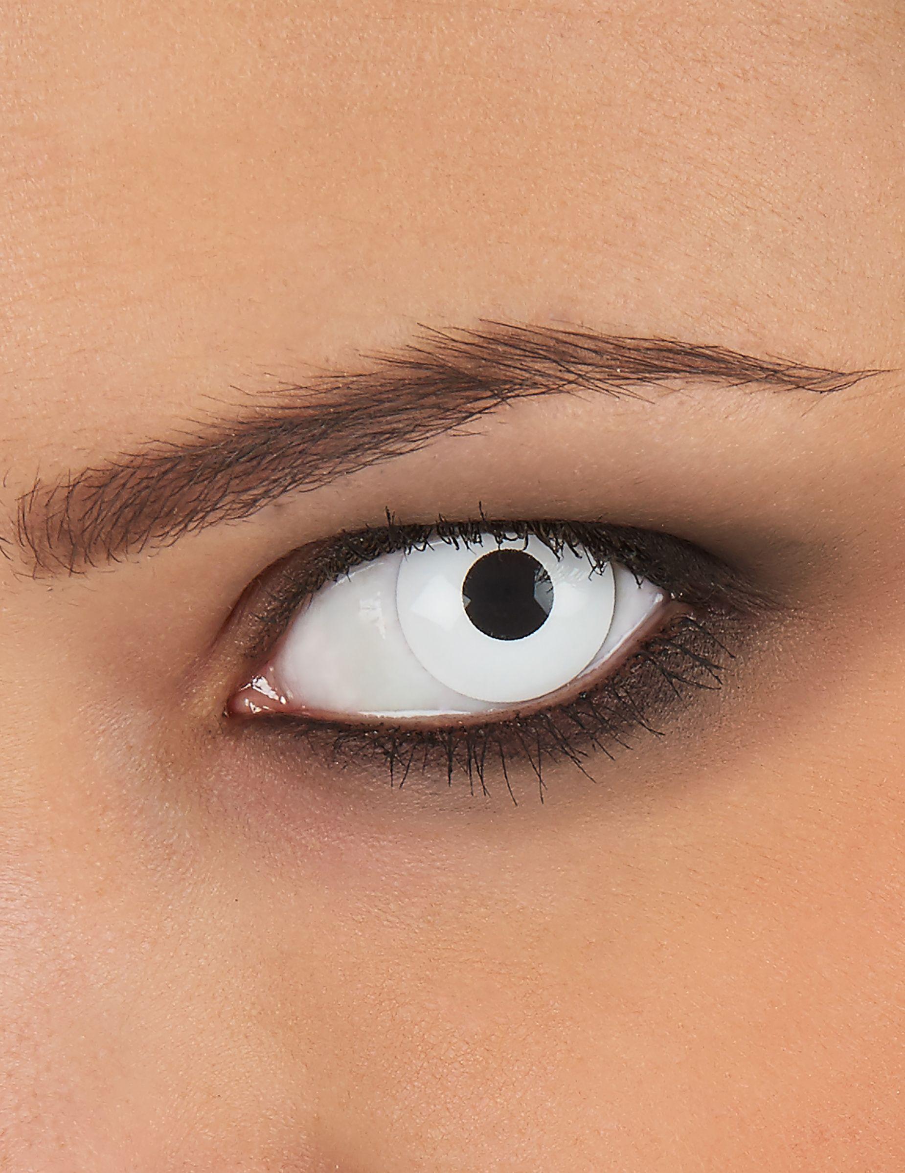 4b7fa89e84ab1 Lentillas de contacto ojo blanco  Estas lentillas de contacto de fantasía  para adulto son de color blanco. Miden 14.5 mm de diámetro.
