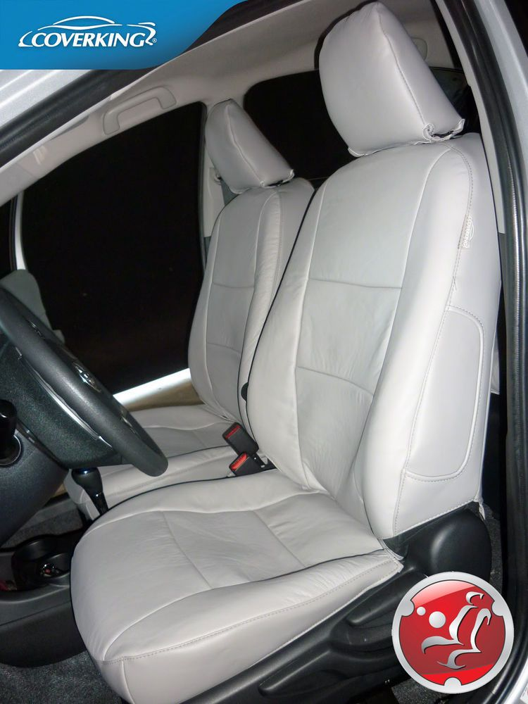 Coverking Premium Genuine Leather Custom Slip On Seat Covers For Chevy Corvette