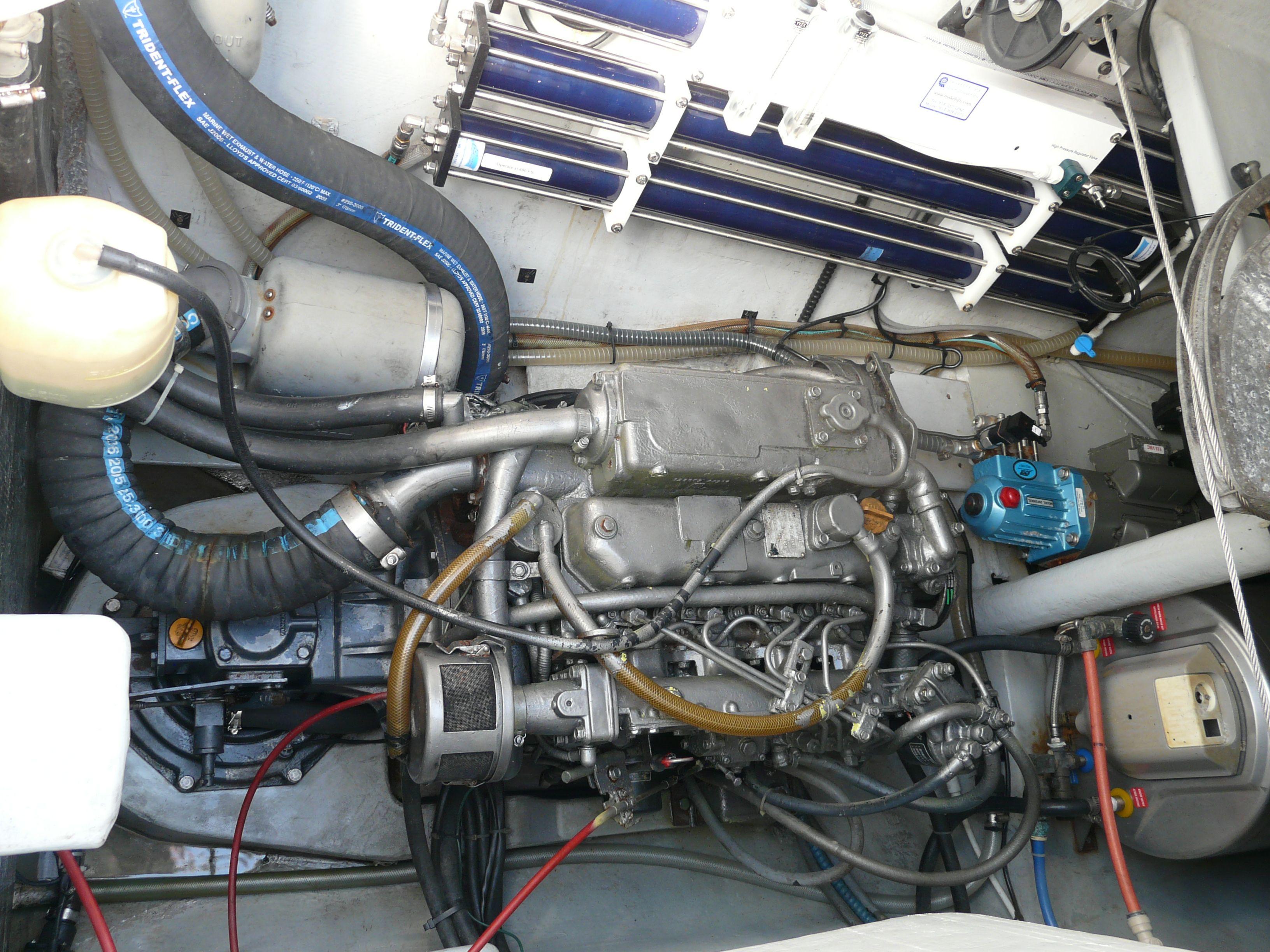 56hp yanmar diesel engine starboard engine room