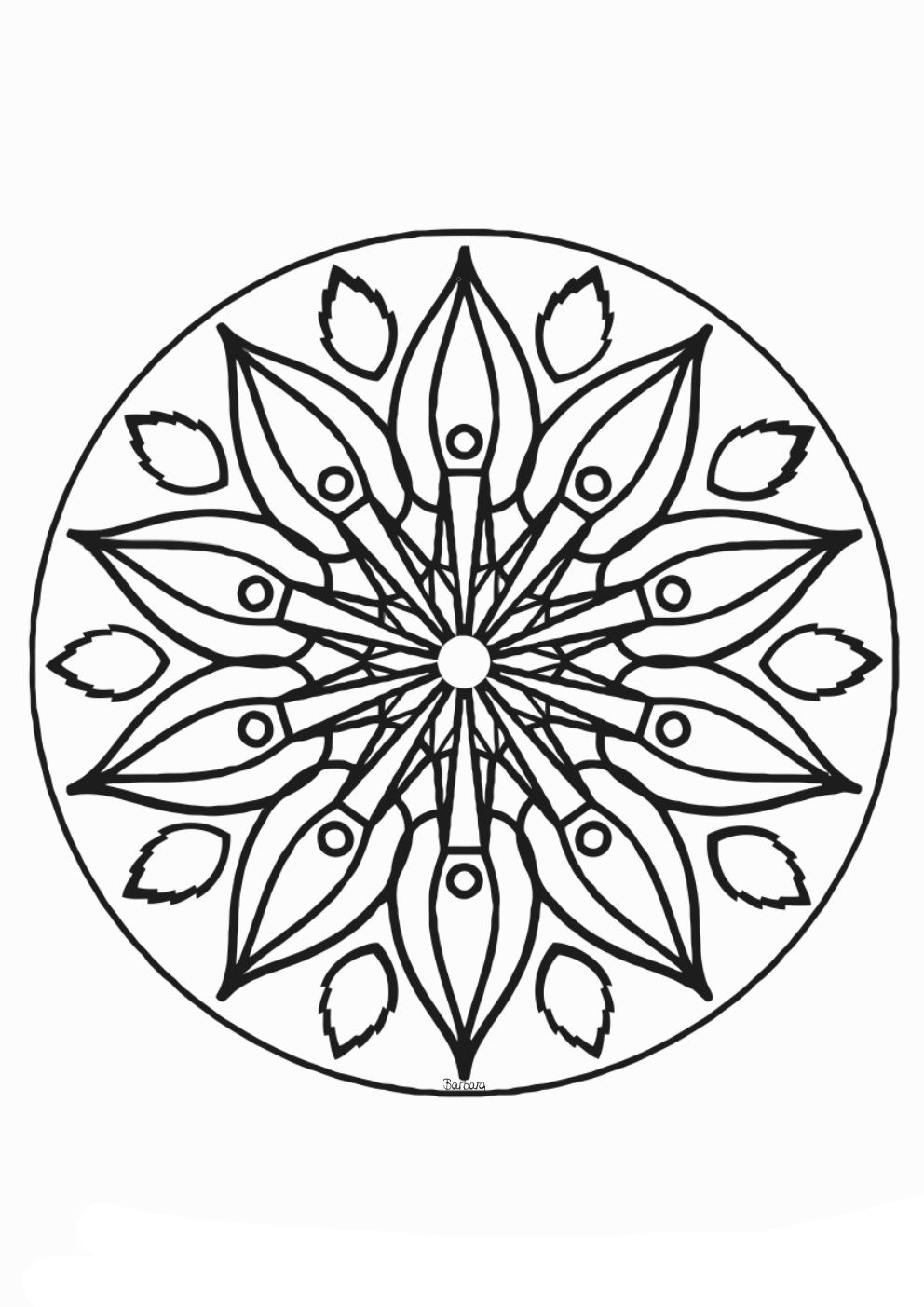 Engel-Mandala zum ausmalen 8  Mandala zum ausdrucken