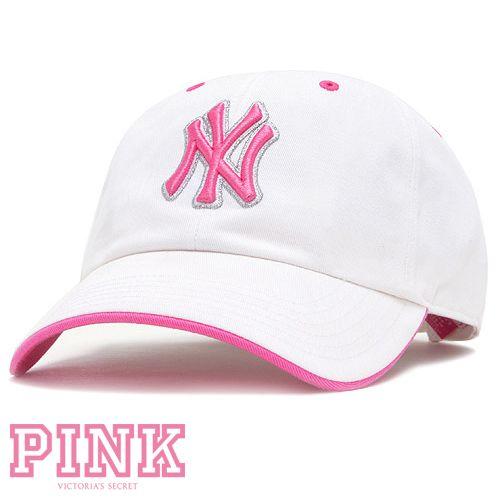 57e3212e Pink Victoria's Secret NY Yankee Cap | NYC Love | Yankees hat ...