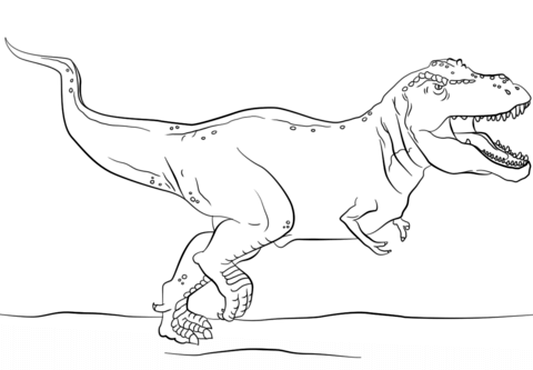 Jurassic Park T-Rex coloring page from Tyrannosaurus category ...