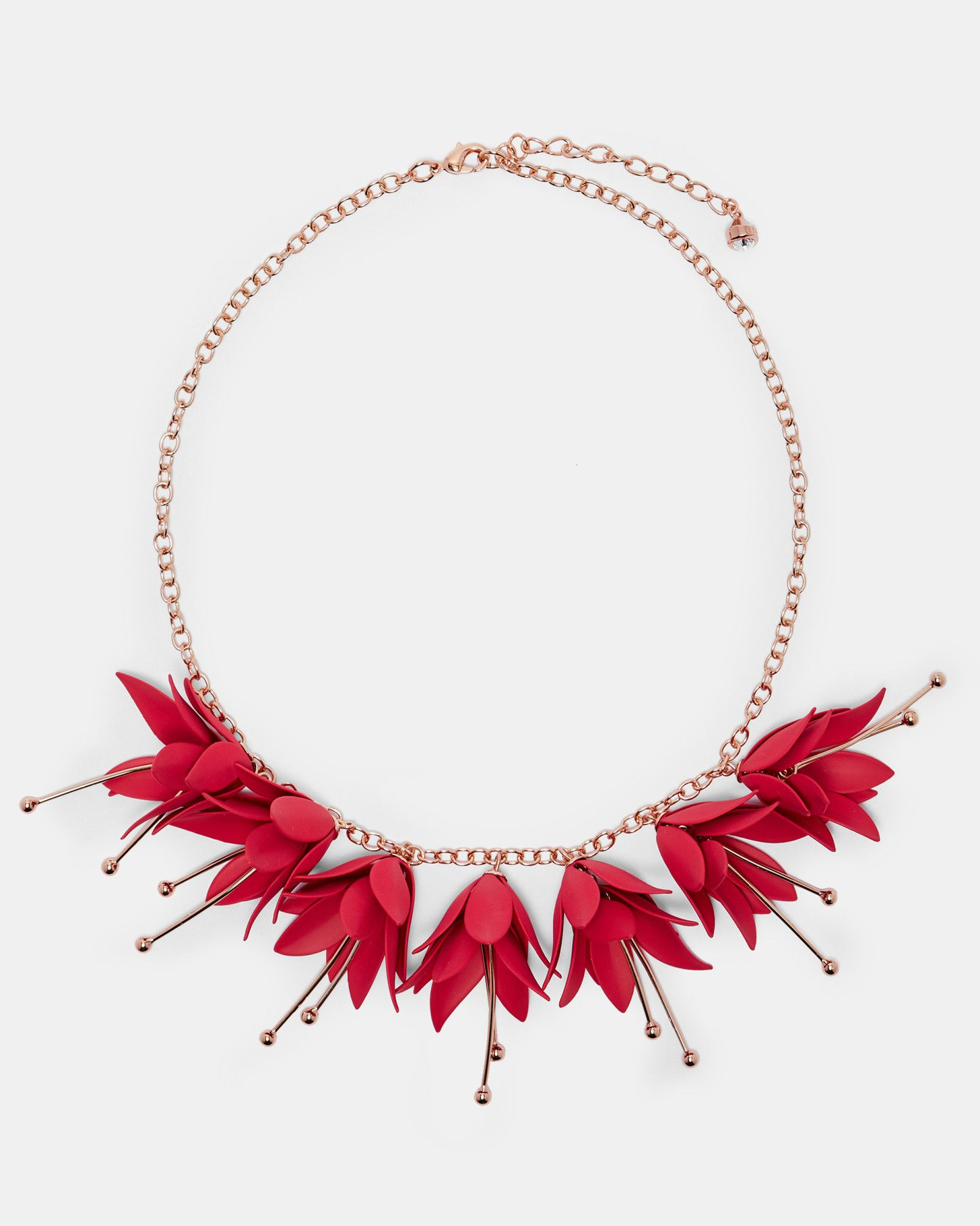 Ted Baker Fuchsia Drop Necklace Fuchsia Fuchsia Necklace Floral Jewellery Jewelry