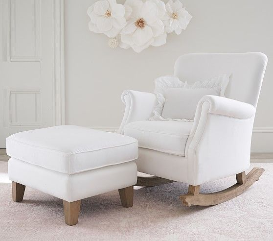 Minna Small Spaces Rocking Chair Amp Ottoman In 2020 Rocking Chair Nursery Nursery Chair Comfy Rocking Chair