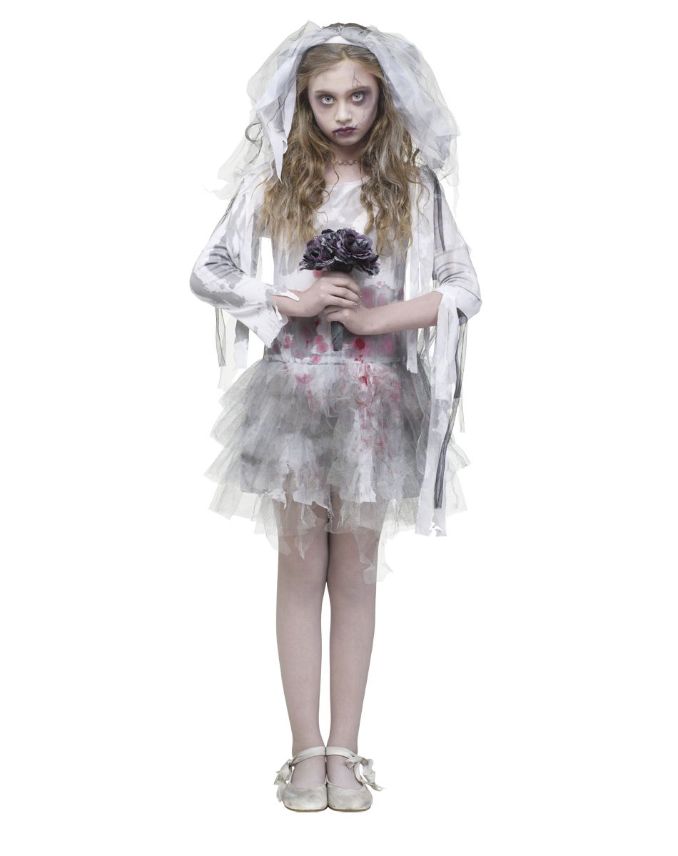 Zombie Bride Girls Costume exclusively at Spirit Halloween - Walk ...