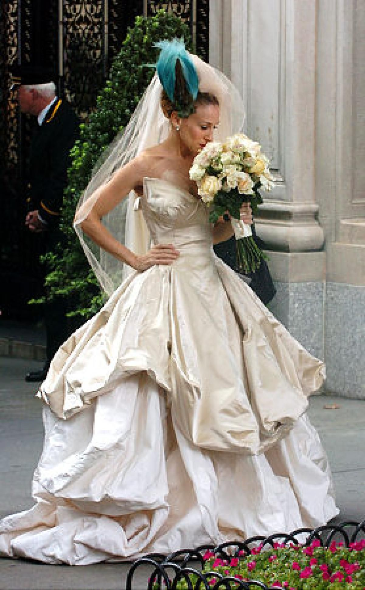 Sex and the City\' wedding | Carrie bradshaw, Sarah jessica parker ...