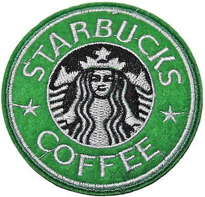 "3"" starbucks logo Embroidered Iron On / Sew On Patch"