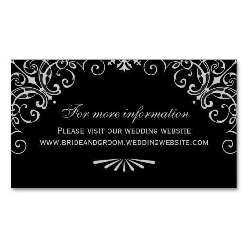 Wedding Website Card Art Deco Style Zazzle Com