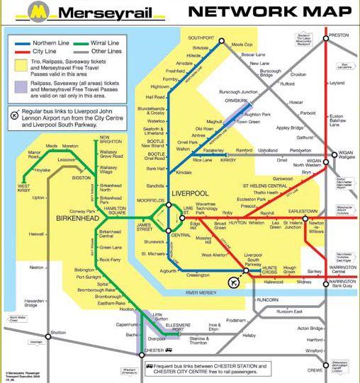 Merseyrail map Rail Pinterest